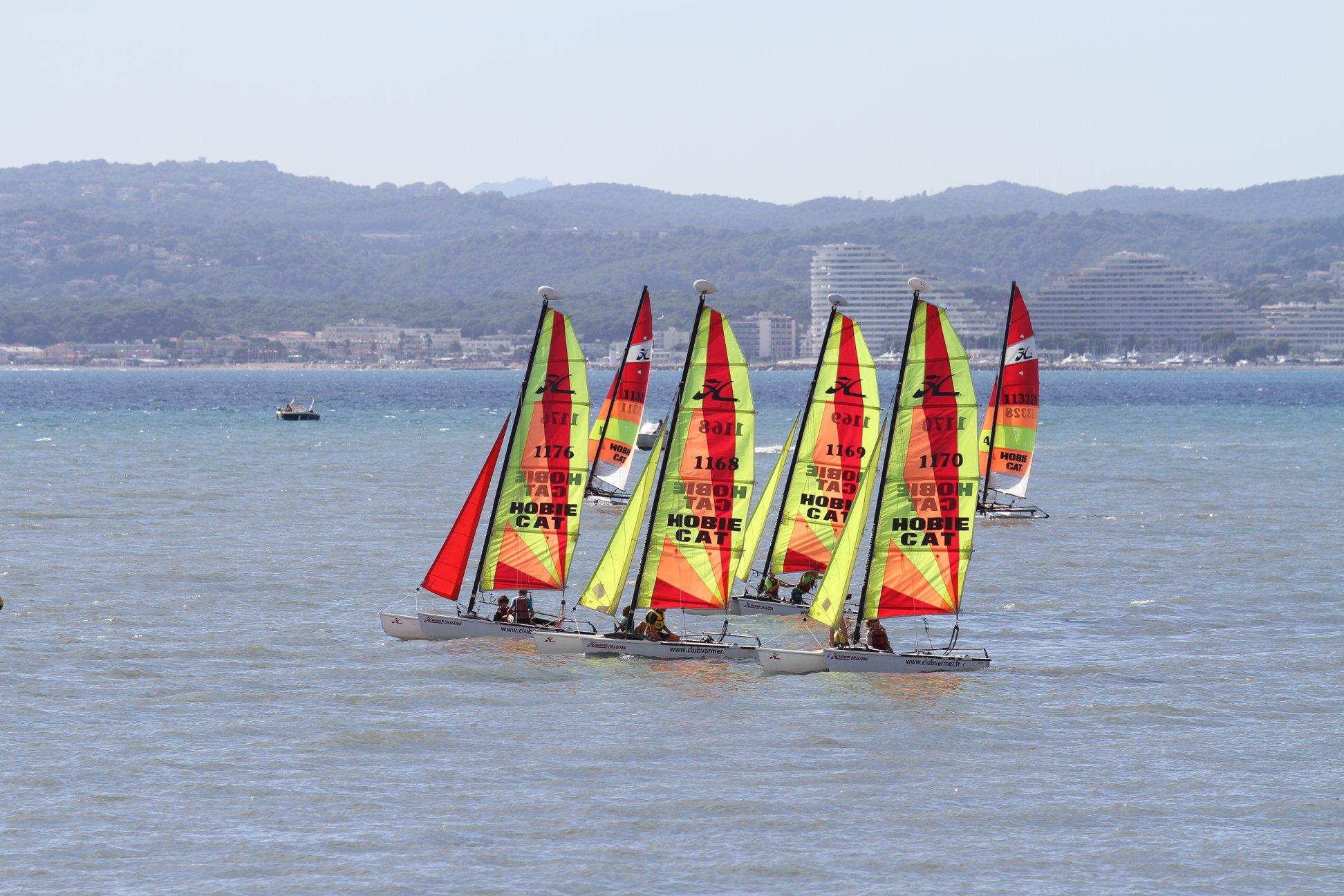 Catamaran en formation