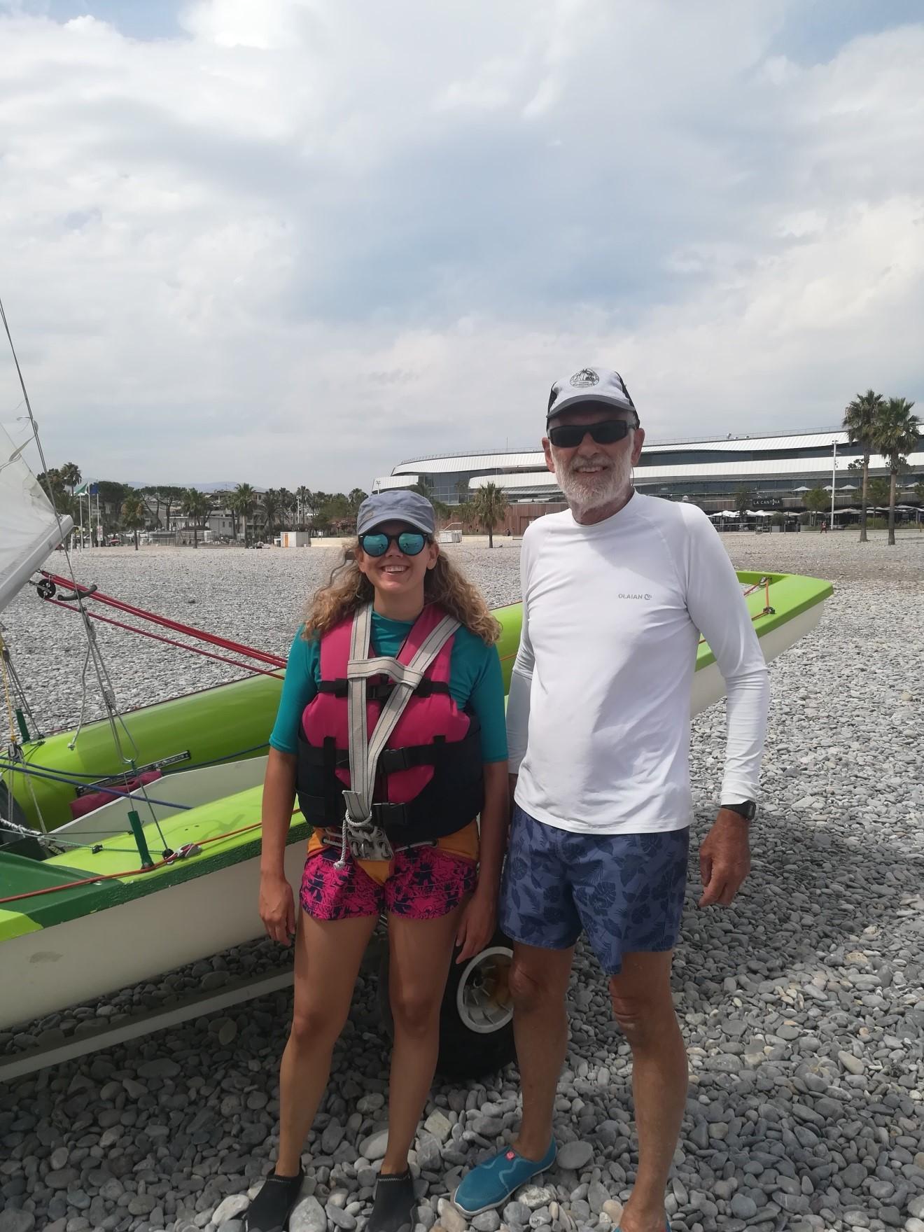 Guy et Chloé en partance pour une navigation le 24 juillet 2021